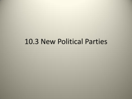 10.3 New Political Parties