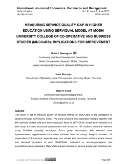 measuring service quality gap in higher education using serviqual