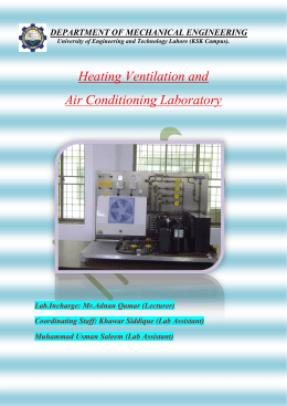 Heating Ventilation and Air Conditioning Laboratory