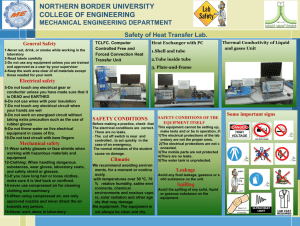 Mechanical Engineering Department Refrigeration and air