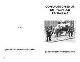 corporate greed or corporate greed or just plain old