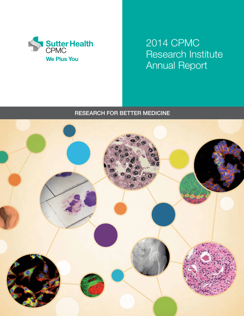 2014 CPMC Research Institute Annual Report