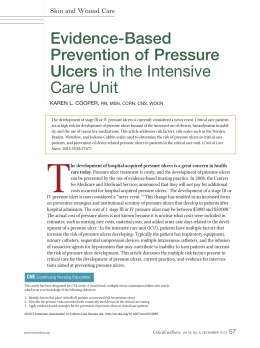 pressure ulcers in icu essay Icu stay1,21,26,30 patient and pressure ulcer care essay pressure ulcers essay pressure ulcers donna long grand canyon university nrs 433v.