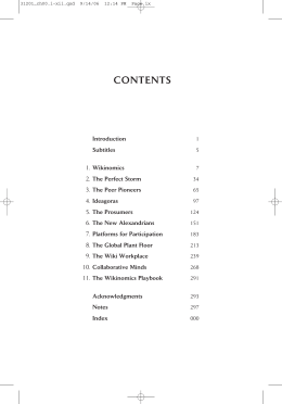 CONTENTS - Wikinomics