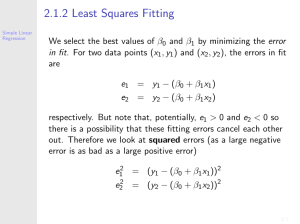 2.1.2 Least Squares Fitting