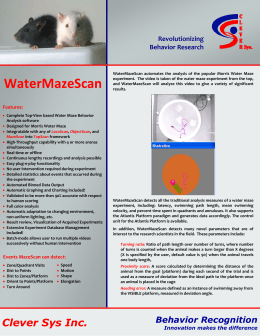 WaterMazeScan - CleverSys Inc