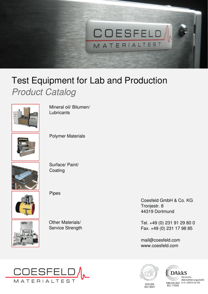 Test Equipment for Lab and Production Product Catalog