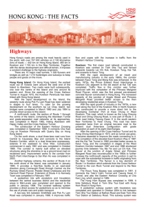 Hong Kong Fact Sheets - Highways