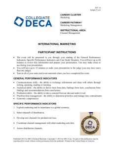 INTERNATIONAL MARKETING PARTICIPANT INSTRUCTIONS