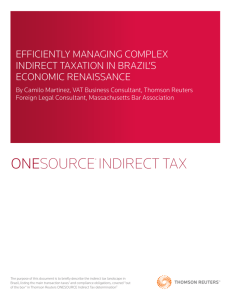 onesource® indirect tax - Thomson Reuters Tax & Accounting