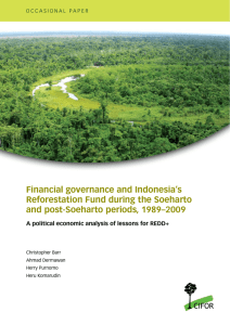 Financial governance and Indonesia's Reforestation Fund during