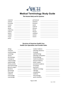 Medical Terminology Study Guide