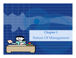 Chapter1-Nature of management
