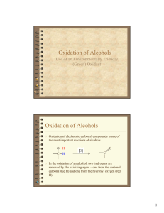 Oxidation of Alcohols Oxidation of Alcohols - TAMU