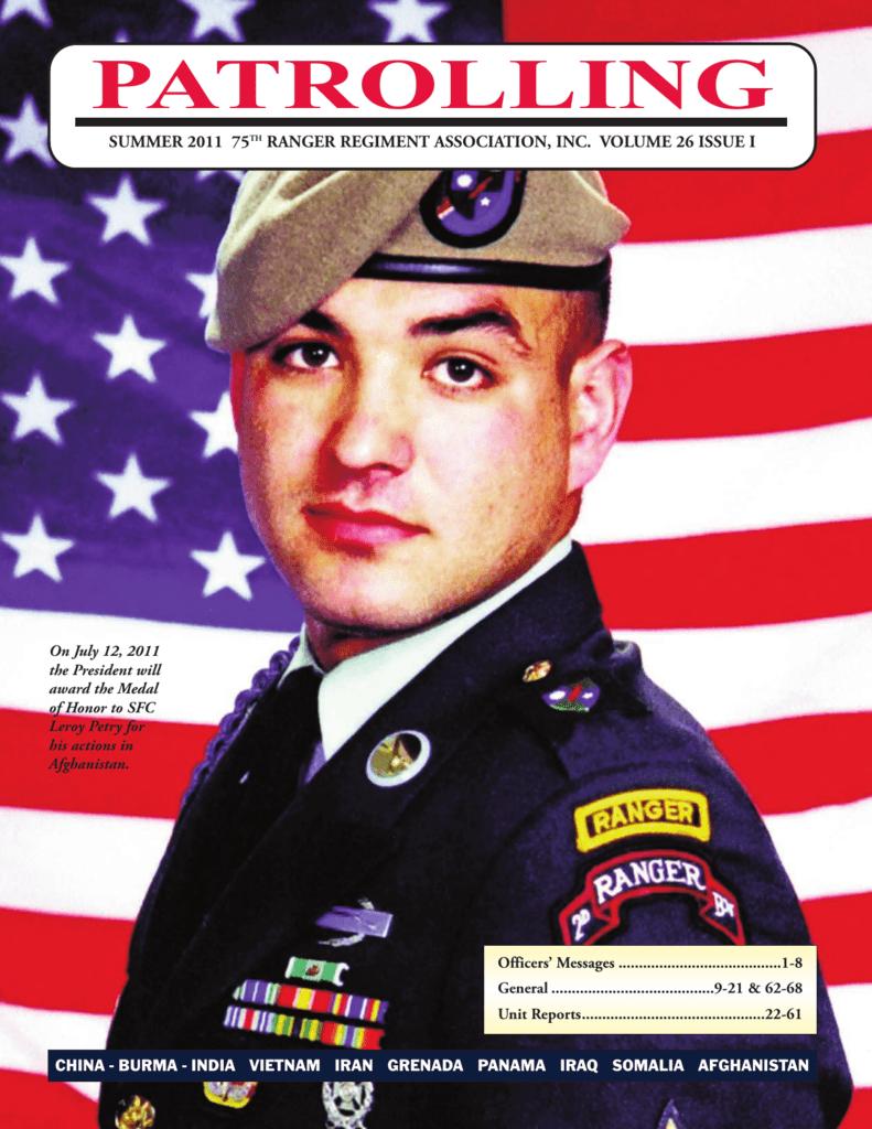 B Co 1st Bn 75 Infantry Airborne Ranger Regiment TAN beret pocket patch