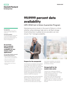 99.9999 percent data availability with HPE 3PAR Get 6