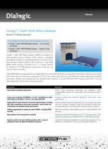 Dialogic® I-Gate® 4000 Media Gateways