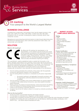 Electrical And Electronics Ce Marking