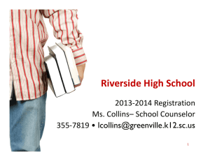 Riverside High School - Greenville County School District
