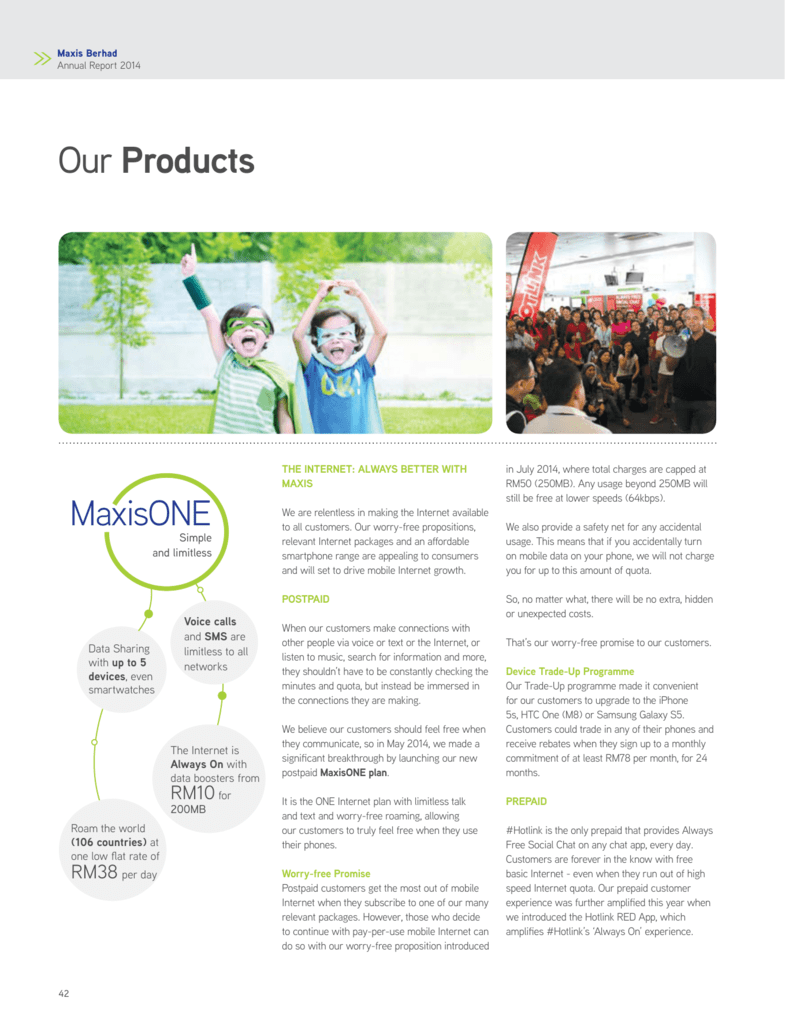 Our Products - Maxis Annual Report 2014