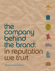 The Company behind the Brand: In Reputation We Trust