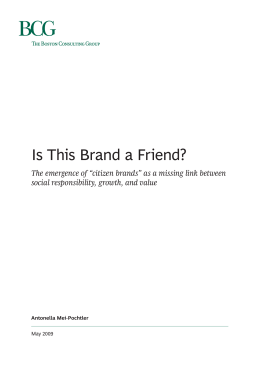 Is This Brand a Friend? The Emergence of Citizen Brands as a