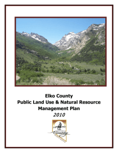 Elko County Public Land Use & Natural Resource Management Plan
