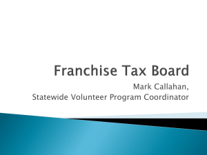 Franchise Tax Board's presentation