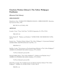 Charlotte Perkins Gilman's The Yellow Wallpaper Pathfinder
