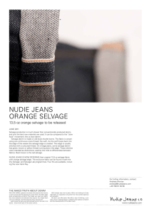 nudie jeans orange selvage