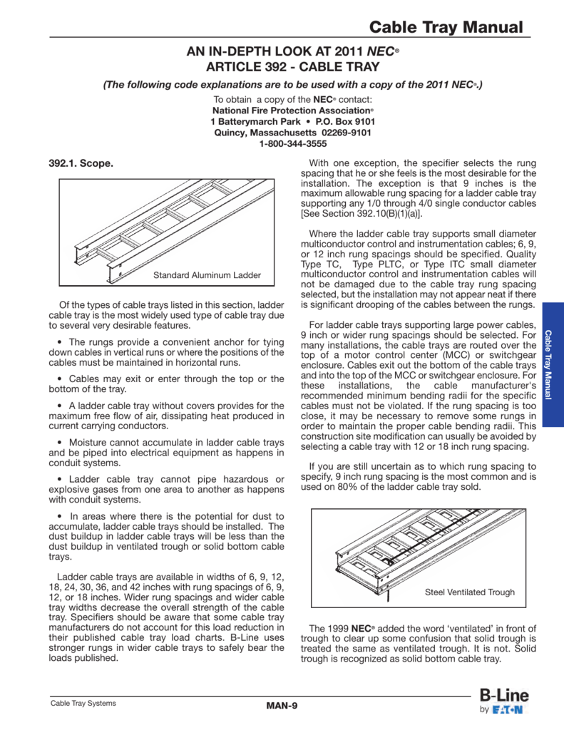 Cable Tray Manual - Cooper Industries
