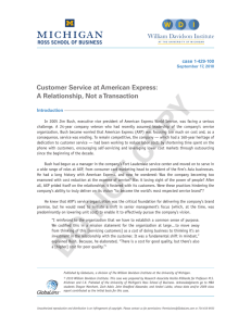 Customer Service at American Express