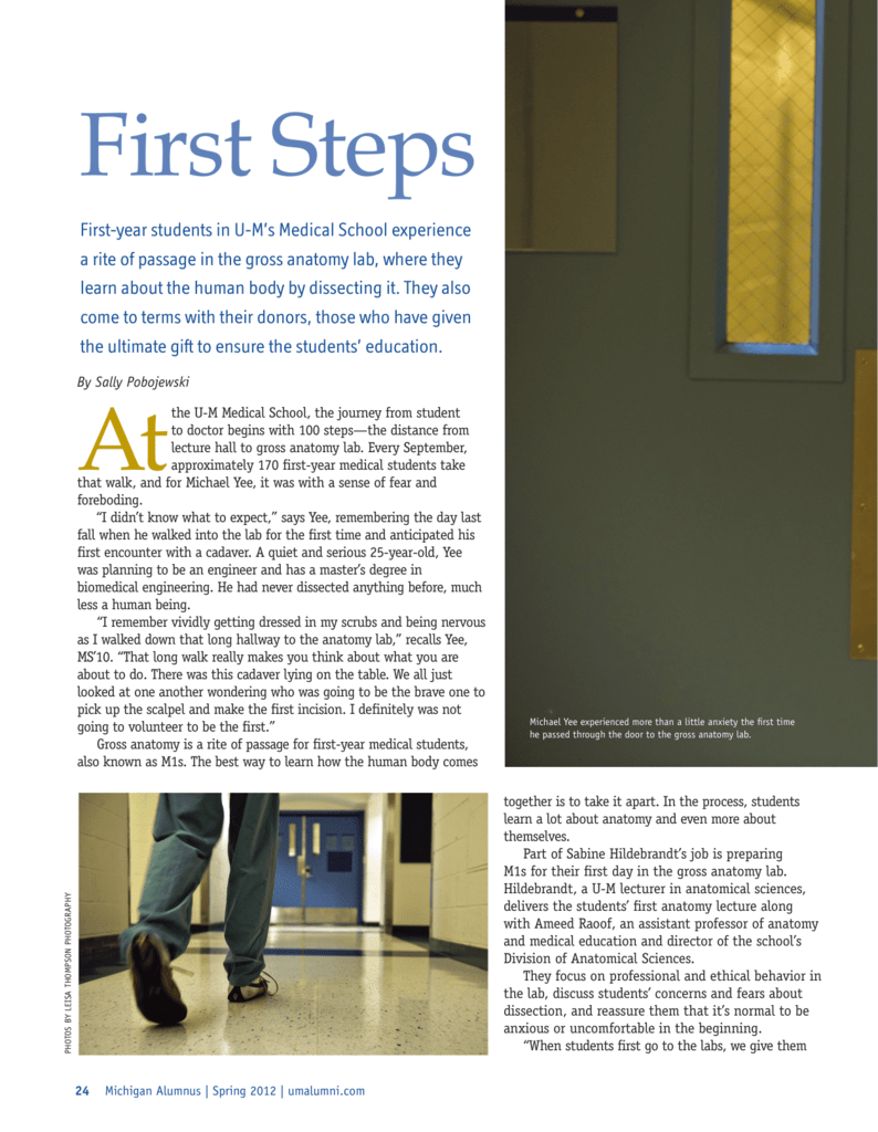 first steps - University of Michigan Health System
