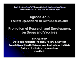 Agenda 3.1.3 - World Health Organization