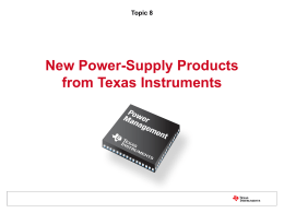 New Power-Supply Products from Texas Instruments_PSDS