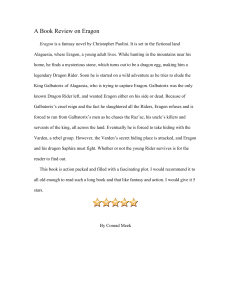 A Book Review on Eragon
