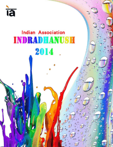 Indradhanush 2014 - Indian Association Shanghai