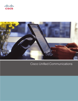 Cisco Unified Communications Solution Brochure