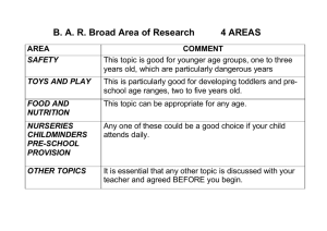 B. A. R. Broad Area of Research 4 AREAS