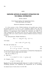 simplified method-of-moments estimation for the weibull