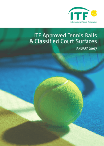 ITF Approved Tennis Balls & Classified Court Surfaces