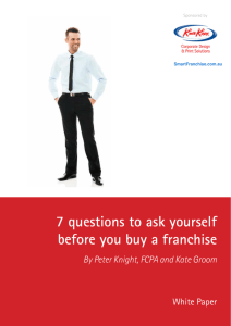7 questions to ask yourself before you buy a franchise