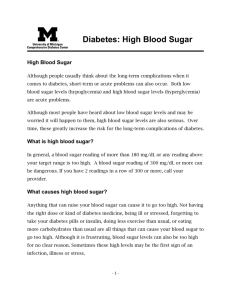 Diabetes: High Blood Sugar - University of Michigan Health System