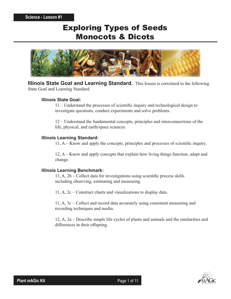 Exploring Monocots and Dicots - Illinois Ag in the Classroom