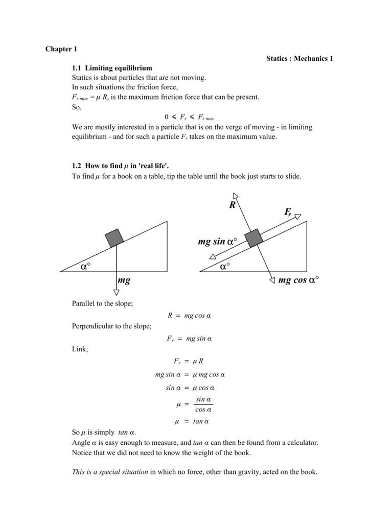 Statics (A-Level, M1) PDF