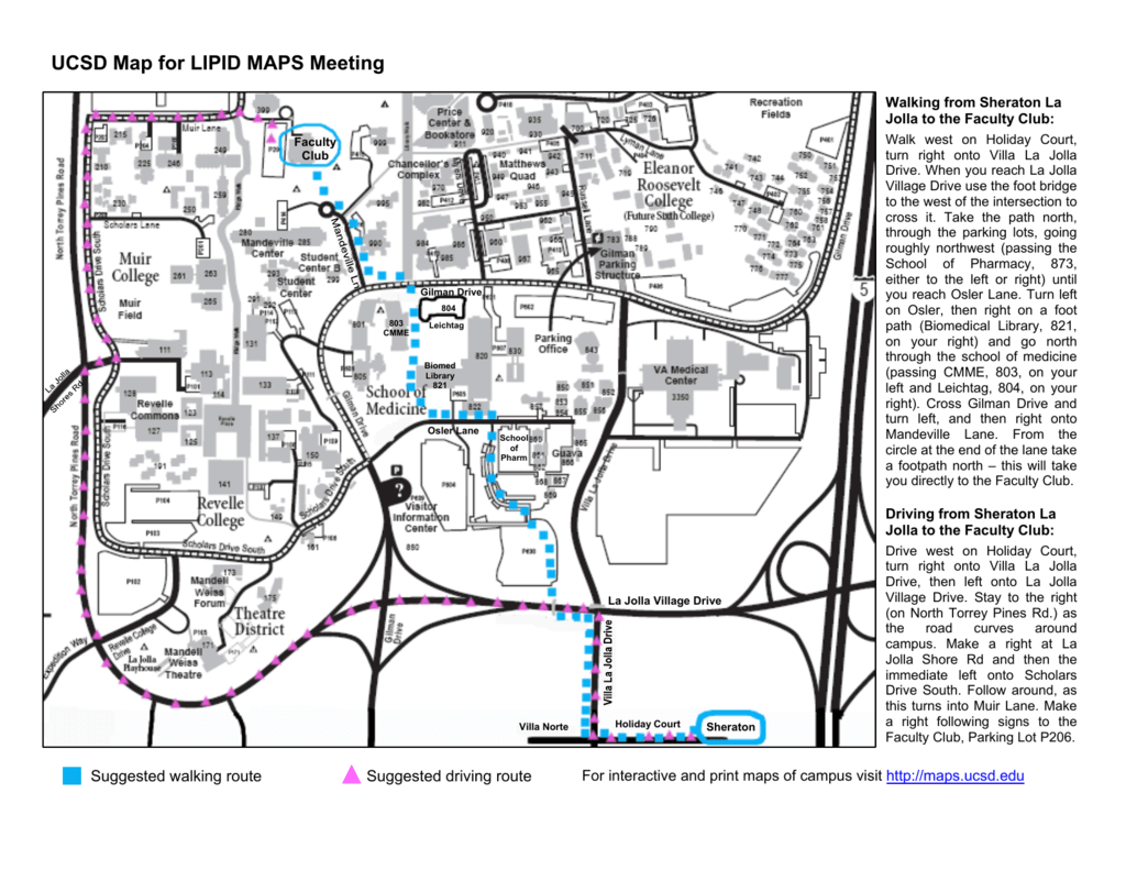 map of the UCSD Campus