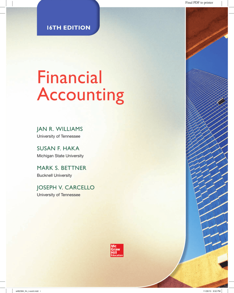 Financial accounting novella fandeluxe Image collections