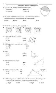Geometry CP Final Exam Review