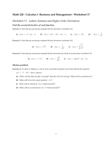 Math 220 - Calculus f. Business and Management