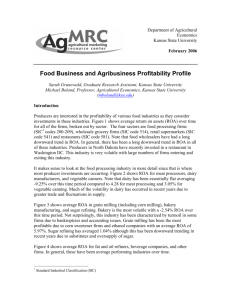 Food Business and Agribusiness Profitability Profile